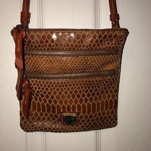 Dooney & Bourke Brown Leather Crossbody bag